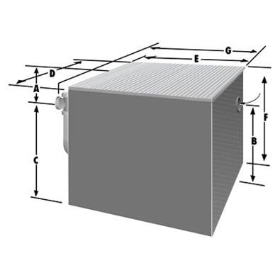 Rockford Separators GOST Series Oil Separator Dimensional Image