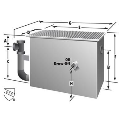 Rockford Separators OS-DW Series Oil Separator Dimensional Image