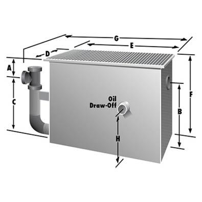 Rockford Separators OSL Series Oil Separator Dimensional Image