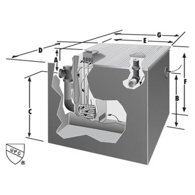 Rockford Separators OST-DW Series Oil Separator Dimensional Image