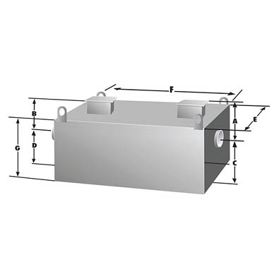 Rockford Separators RGI Series Commercial Grease Trap Dimensional Image