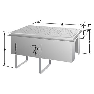 Rockford Separators RPDC Series Commercial Grease Interceptor Cradle Dimensional Image