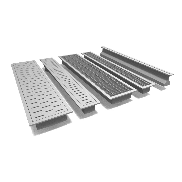 Collage of Stainless Steel Trench Drains by Rockford Separators